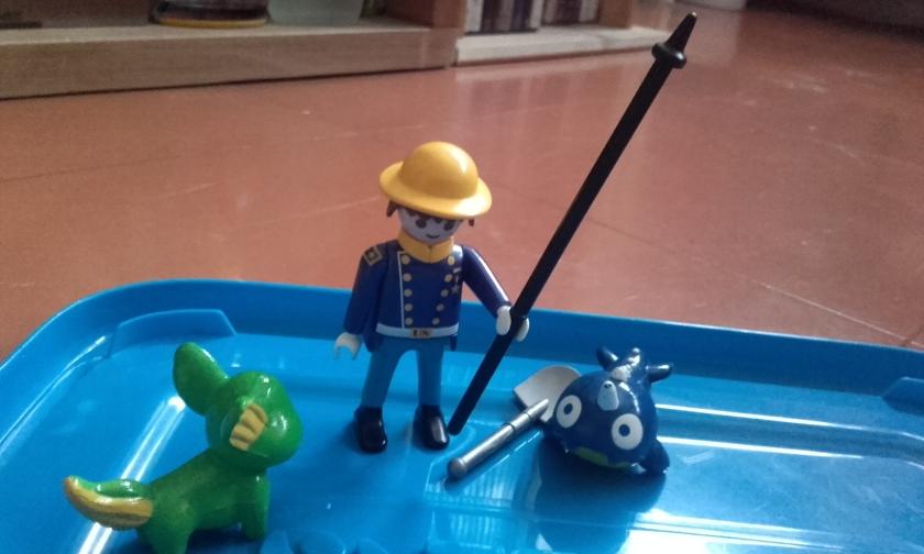 Bleu offre la lance