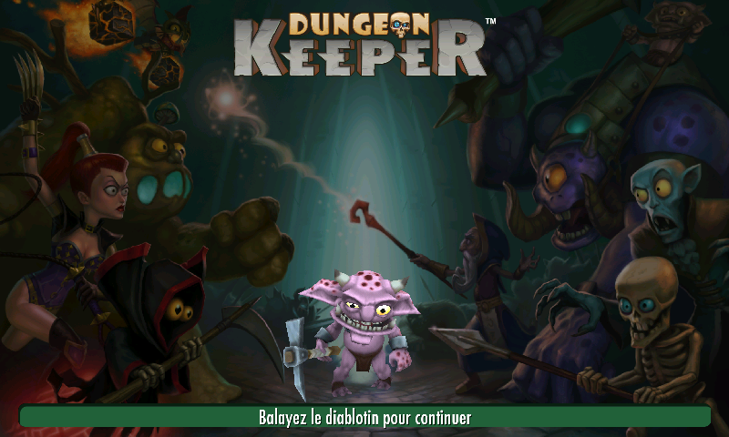 Dungeon Keeper (Mobile) - Écran titre.png