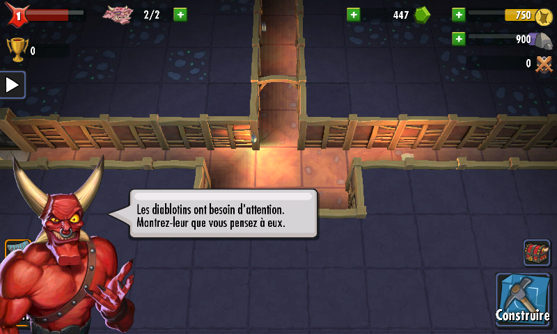 Dungeon Keeper (Mobile) - Frapper les diablotins