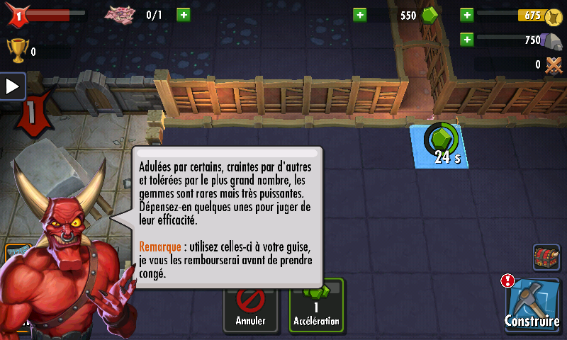 Dungeon Keeper (Mobile) - Gemmes