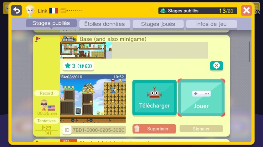 Super Mario Maker - Base (and also minigame)