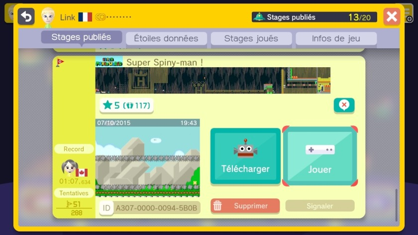 Super Mario Maker - Super Spiny-man !