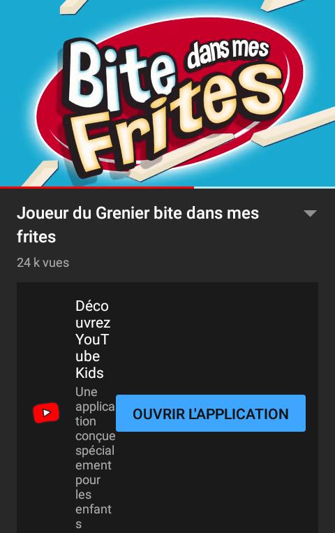 YouTube - Bite dans mes frites