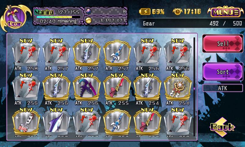 Fallen Princess - Armes d'événements