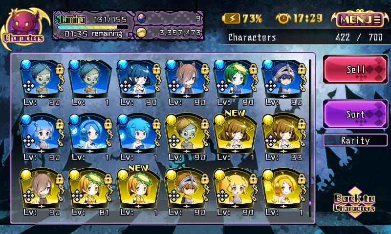Fallen Princess - Personnages de très faible rareté