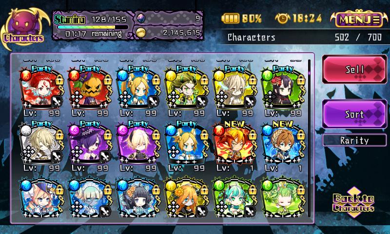 Fallen Princess - Sélection de personnages
