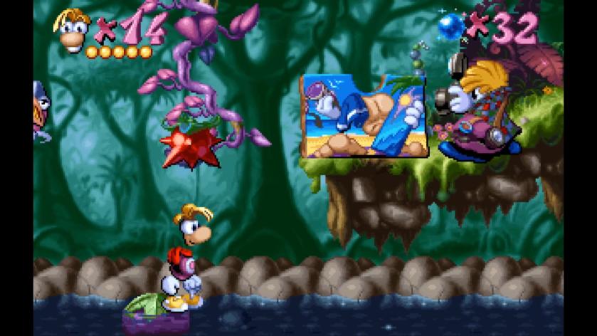 Rayman - Prune dans l'eau