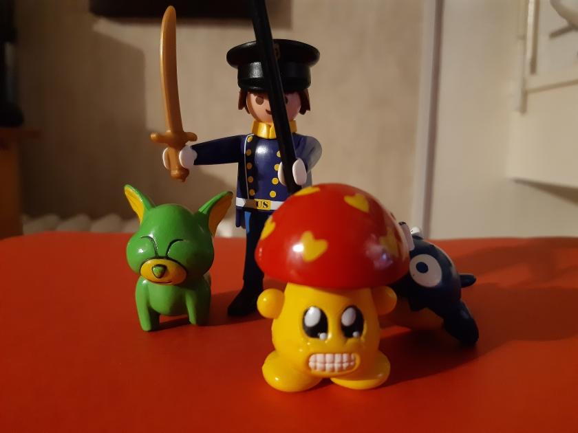 Appuie sur le champignon !